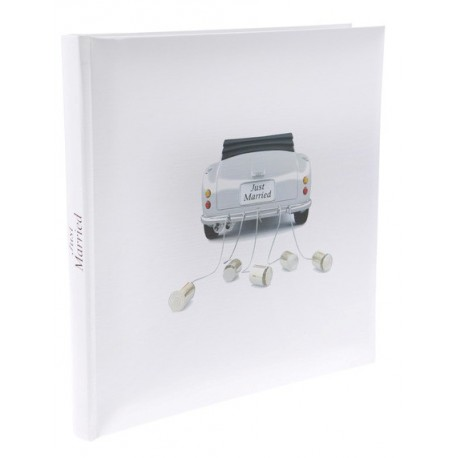 Livre d'or car just married blanc