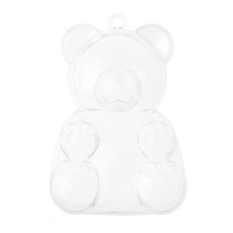 Boîte à dragées ours transparent les 4