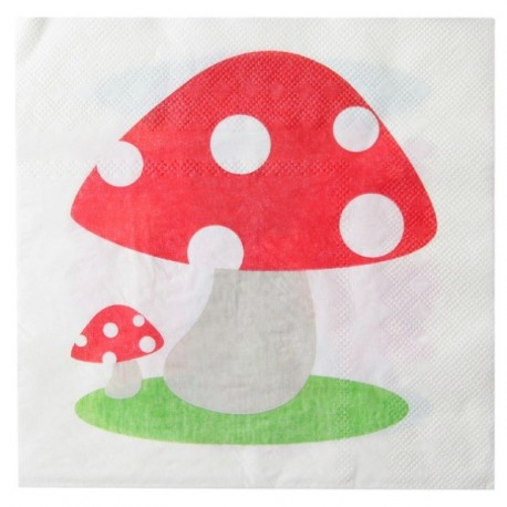 Serviette de table Champignon papier x10