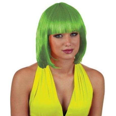 Perruque Verte Courte Sexy Femme