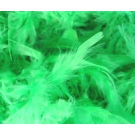 Boa Vert en Plumes 2 Mètres