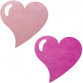 Sets de Table Coeur Rose et Fuschia