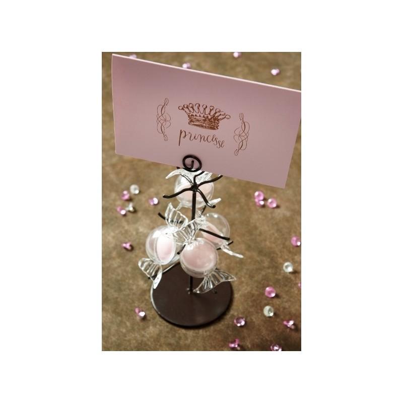 6 cartes princesse rose cartes invitation ou menu anniversaire f tes. Black Bedroom Furniture Sets. Home Design Ideas