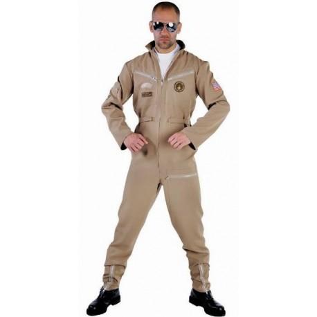 Déguisement pilote de chasse homme deluxe Déguisement aviateur