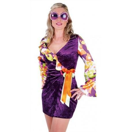Déguisement 70's Hippie Flower Luxe Adulte Femme
