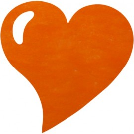 Set de Table Coeur Orange