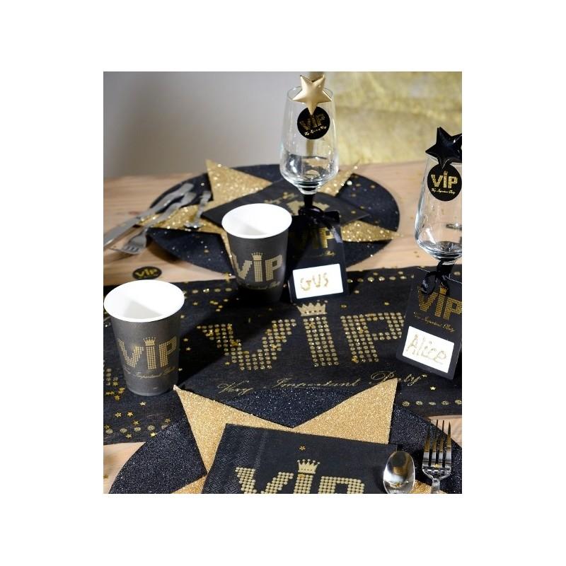 gobelet vip carton noir or chic les 10. Black Bedroom Furniture Sets. Home Design Ideas