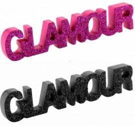 Mot Glamour en Bois Pailleté Déco de Table