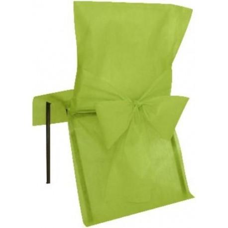 Housses de Chaise Vert Amande Intissé Uni