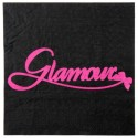 Serviettes de table Glamour noir fuchsia en papier les 20