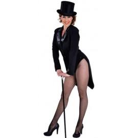 Costume Queue de Pie Cabaret Noire Deluxe Femme