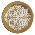 Assiettes Motif Oriental carton or 23 cm les 10