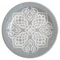 Assiettes Motif Oriental carton argent 23 cm les 10