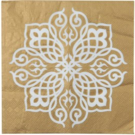 Serviettes de table Motif Oriental or les 20
