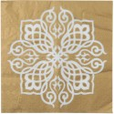 Serviette de table Motif Oriental or les 20