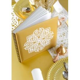 Livre d'or oriental or et blanc