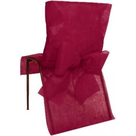 Housses de Chaise Bordeaux Intissé Uni