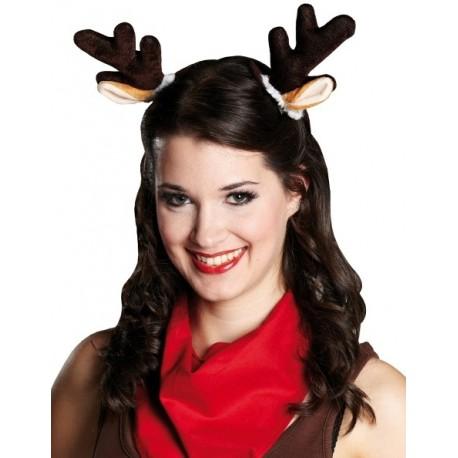 Oreilles de renne de Noël sur pince a cheveux