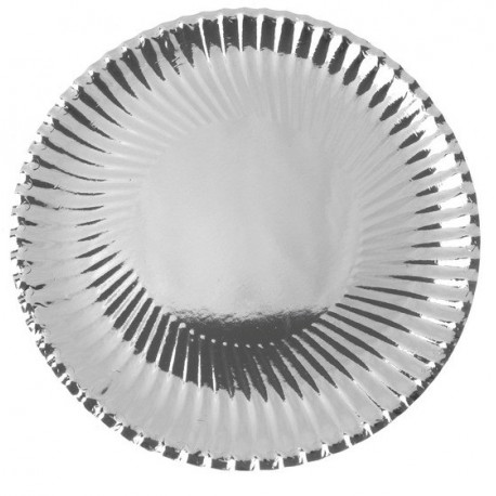 Assiette Carton Métallisé Argent Ronde 30 cm les 10