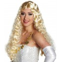 Perruque Ange Tinsel blonde Etoiles or bouclée femme