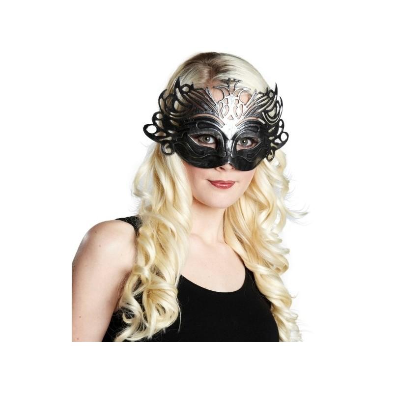 masque loup v nitien domino argent achat masques loup de venise. Black Bedroom Furniture Sets. Home Design Ideas
