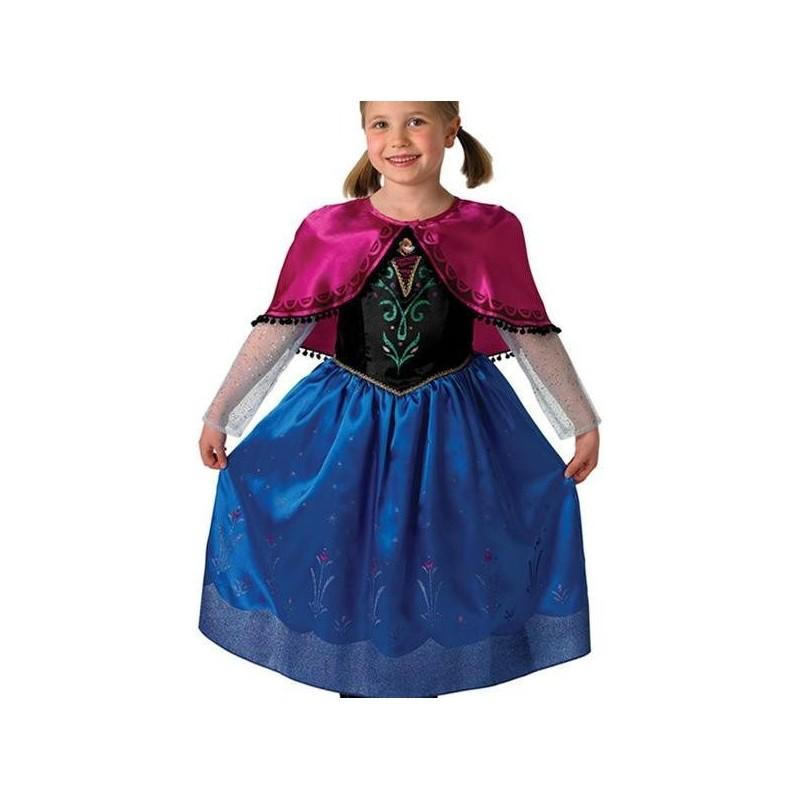 D guisement anna de la reine des neiges disney frozen deluxe enfant - Deguisement disney enfant ...