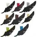 Porte nom ardoise plume en bois couleur sur pince les 6