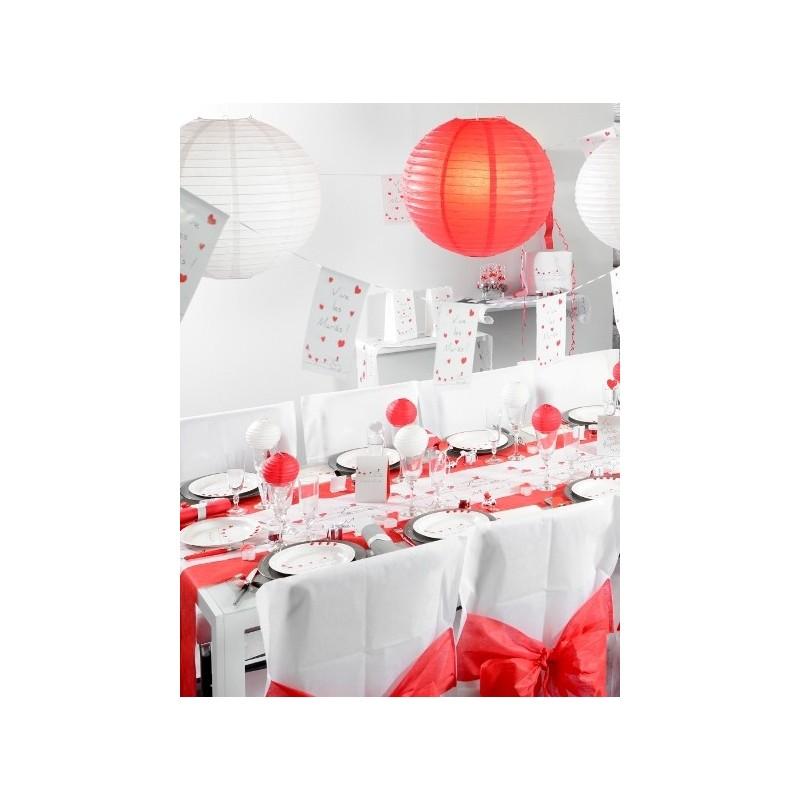 lanterne boule chinoise papier rouge 50 cm. Black Bedroom Furniture Sets. Home Design Ideas