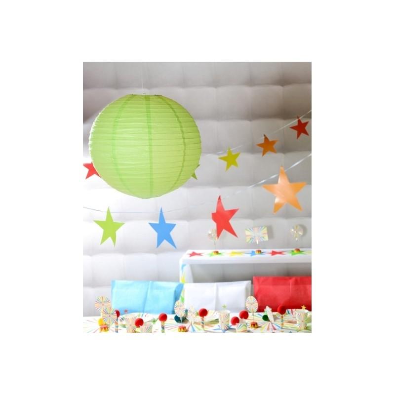 lanterne boule chinoise papier vert anis 50 cm. Black Bedroom Furniture Sets. Home Design Ideas