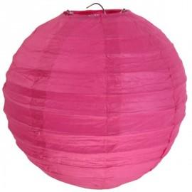 Lanterne Boule Chinoise Papier Fuschia 50 cm