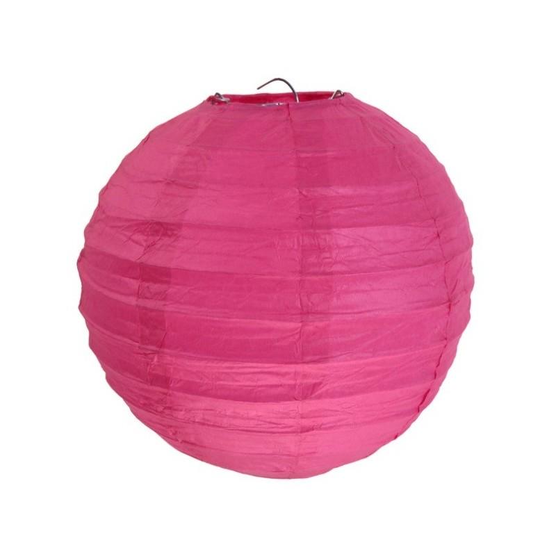 Lanterne boule chinoise papier fuschia 50 cm - Boule chinoise papier ...