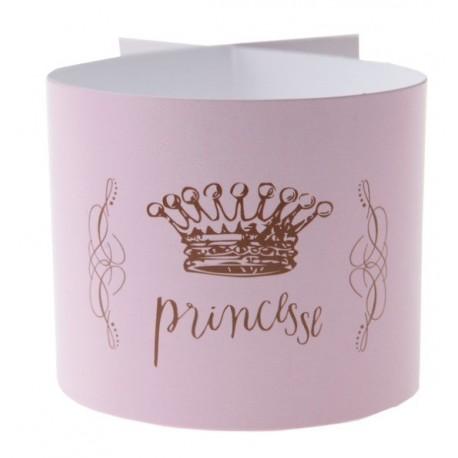 Rond de serviette Princesse rose les 6
