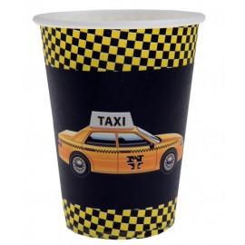Gobelet New York Taxi Carton Noir les 10