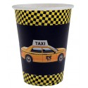 Gobelets New York Taxi Carton Noir les 10