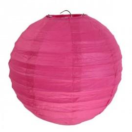Lanterne boule chinoise papier fuschia 30 cm les 2