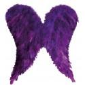 Ailes d'ange en plumes violettes adulte