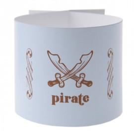 Ronds de serviette Pirate Bleu ciel les 6