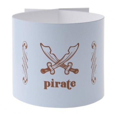 Rond de serviette Pirate Bleu ciel les 6