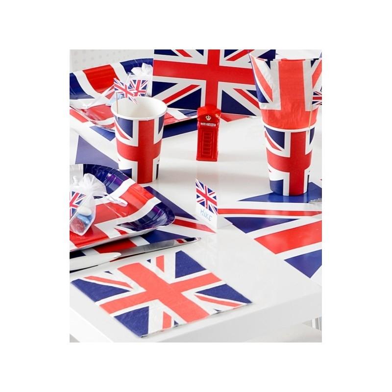 serviette de table angleterre drapeau anglais les 20. Black Bedroom Furniture Sets. Home Design Ideas