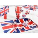 Set de table Angleterre drapeau Anglais les 6