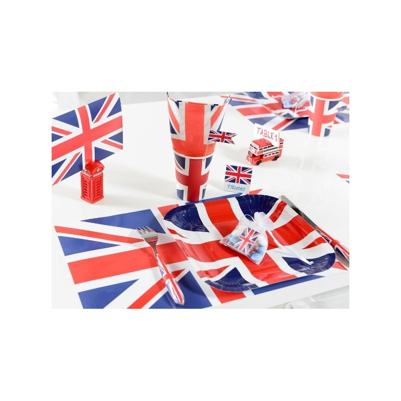 Set de table angleterre drapeau anglais les 6 for Sets de table rigides