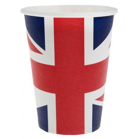 Gobelet Angleterre drapeau Anglais carton les 10
