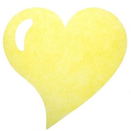 Set de table coeur intissé jaune les 50