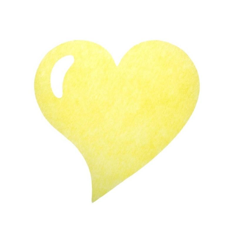 set de table coeur intiss jaune les 50. Black Bedroom Furniture Sets. Home Design Ideas