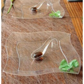 Assiettes Cristal Polystyrène Transparent 23 cm les 10