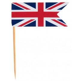 Piques Cocktail Drapeau Anglais Union Jack les 10