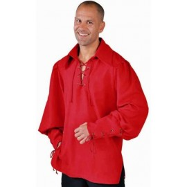 Chemise Pirate Zorro Rouge Deluxe Homme