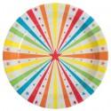 Assiette Carton Cirque Etoile 23 cm les 10