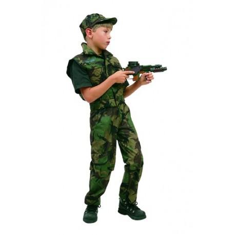 Déguisement soldat commando garçon militaire