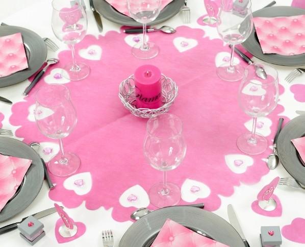 Centres De Table Intisse Perfores Coeurs 73 Cm Les 5